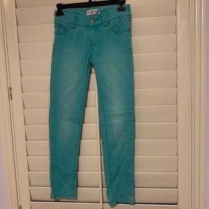 ROXY girls teal jeans